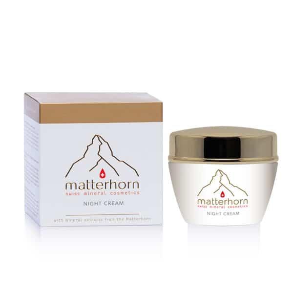 Swiss Mineral Cosmetics - cosmétiques zermatt, Cervin - night cream